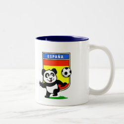 Two-Tone Mug with Spanish Football Panda design