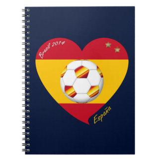 "Spain Football Spanish Soccer Team FÚTBOL ""ESPAÑA"" Libreta"