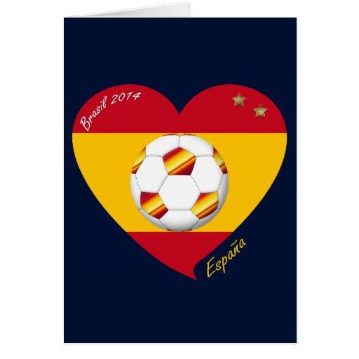 """Spain Football Spanish Soccer Team FÚTBOL """"ESPAÑA"""" Tarjeta"""