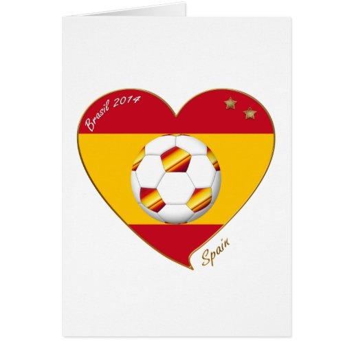 """""""SPAIN"""" FOOTBALL Spanish Soccer Team FÚTBOL ESPAÑA Tarjetón"""