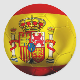Spain Football Classic Round Sticker