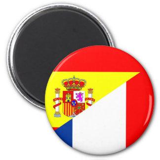 spain france neighbor countries half flag symbol s magnet