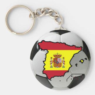Spain futbol basic round button keychain