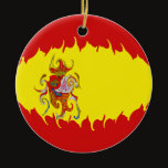 Spain Gnarly Flag Ceramic Ornament
