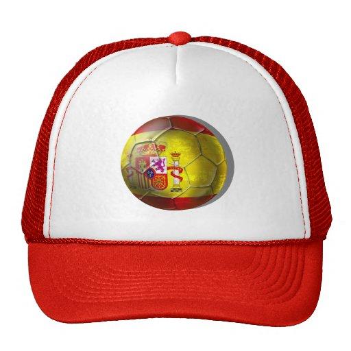 Spain Grunge ball Spanish flag panel gifts Hat