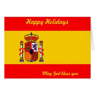 Spain happy holidays greeting card