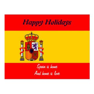 Spain happy holidays postcards