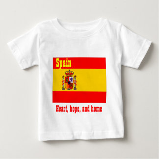 Spain heart hope and home baby baby T-Shirt