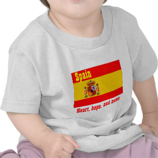 Spain heart hope and home baby t-shirt
