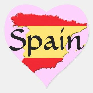 Spain Heart Sticker