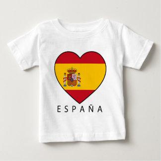 Spain Heart with black ESPANA Baby T-Shirt