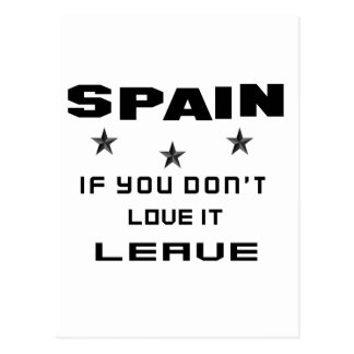 Spain If you don't love it, Leave Postcard
