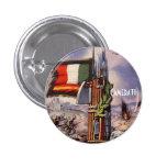 Spain Italy Civil War Mussolini Franco Pinback Button