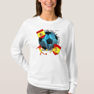 Spain Kickin It Ladies Long Sleeve Shirt