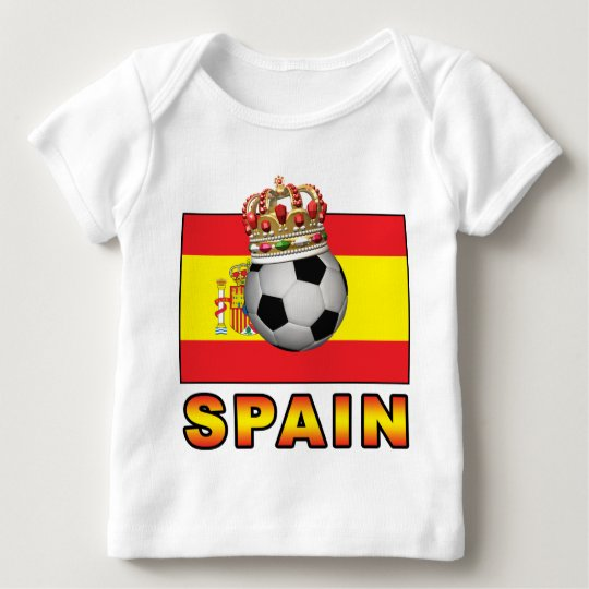 Spain King Of Football Baby T-Shirt