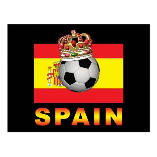 Spain King Of Football Postcard
