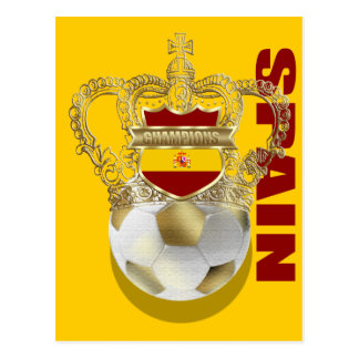 Spain Kings of Soccer World Champions 2010 Postcard