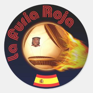 Spain La Furia Roja Classic Round Sticker