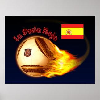 Spain La Furia Roja Poster