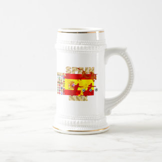 Spain Large España Flag Raging bull Toro Gifts Beer Stein