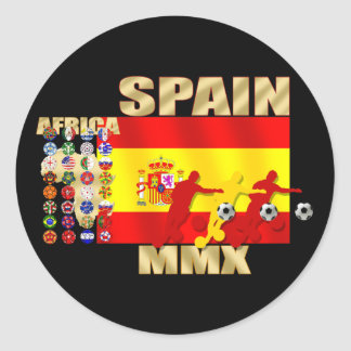 Spain Large flag Africa MMX soccer futbol gifts Classic Round Sticker