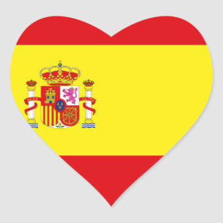 Spain Love Heart Sticker