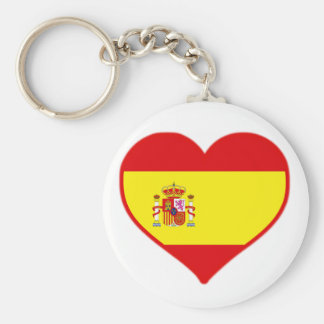 Spain Love Keychain