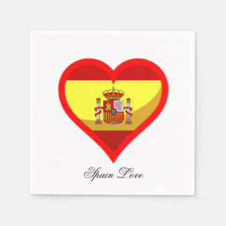 Spain Love Paper Napkins