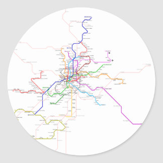 Spain-Madrid Metro Map Classic Round Sticker