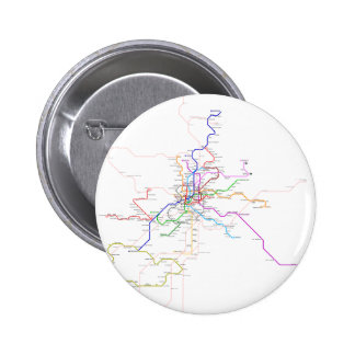 Spain-Madrid Metro Map Pinback Buttons