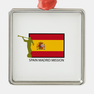 SPAIN MADRID MISSION LDS CTR SQUARE METAL CHRISTMAS ORNAMENT