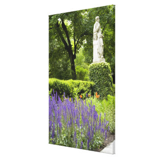 Spain, Madrid. Royal Botanic Garden aka Real Stretched Canvas Print