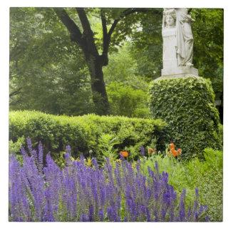Spain, Madrid. Royal Botanic Garden aka Real Tile