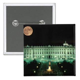 Spain, Madrid, Royal Palace and Plaza de 2 Inch Square Button
