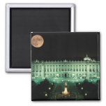 Spain, Madrid, Royal Palace and Plaza de 2 Inch Square Magnet