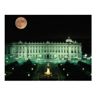 Spain, Madrid, Royal Palace and Plaza de Postcard