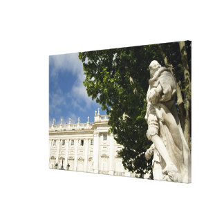 Spain, Madrid. Royal Palace. Canvas Print
