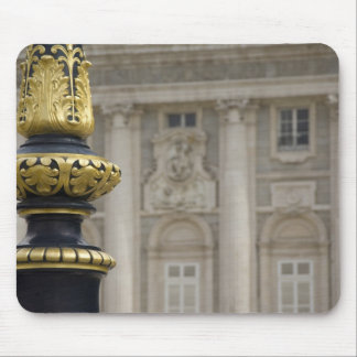 Spain, Madrid. Royal Palace, ornate gilded lamp Mouse Pad