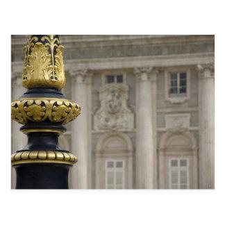 Spain, Madrid. Royal Palace, ornate gilded lamp Postcard