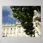 Spain, Madrid. Royal Palace. Print