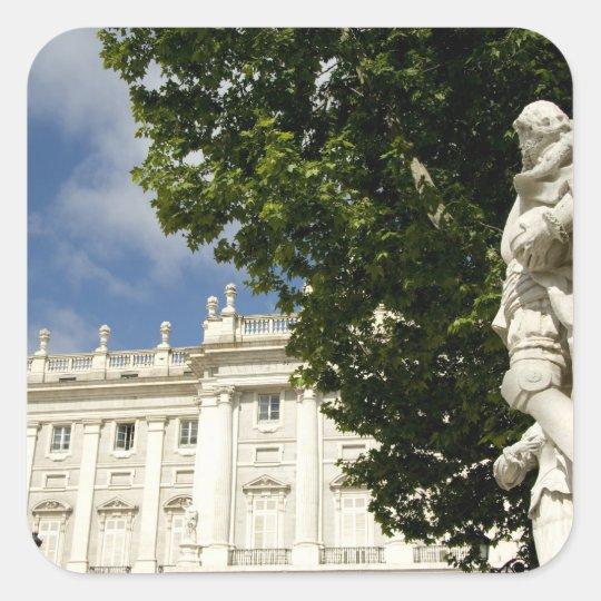 Spain, Madrid. Royal Palace. Square Sticker