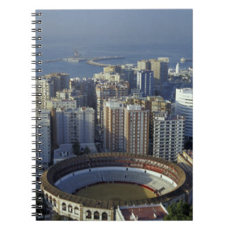 Spain, Malaga, Andalucia View of Plaza de Toros Notebook