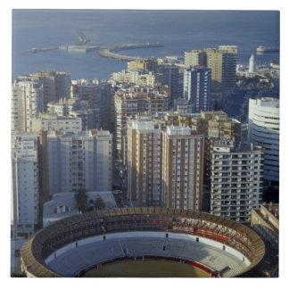 Spain, Malaga, Andalucia View of Plaza de Toros Tile