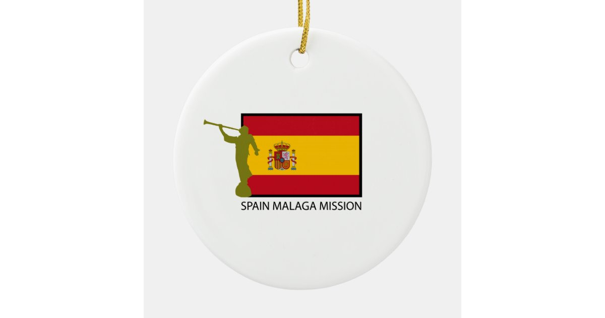 Spain Malaga Mission Lds Ctr Ceramic Ornament Zazzle
