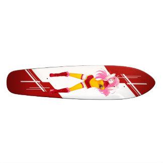Spain Manga girl dressed in flag Spanish Skate Board Decks