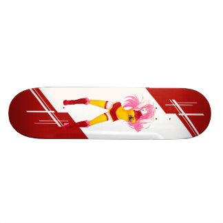 Spain Manga girl dressed in flag Spanish Skateboard Deck