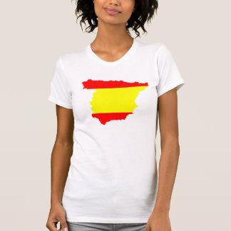 Spain map and flag tee shirt