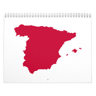 Spain map calendar