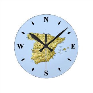 Spain Map Clock