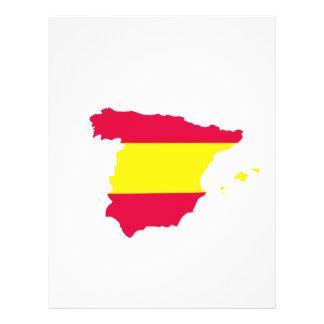Spain Map Flag Flyer